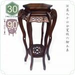【木桌】頂級高 90 公分寬版六腳木桌