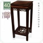 【木架】長寬40cm 高89cm 四方木桌