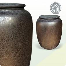 特大茶葉甕(亮黑色)