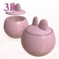 【商品設計】兔耳佛跳牆甕樣品3D打樣